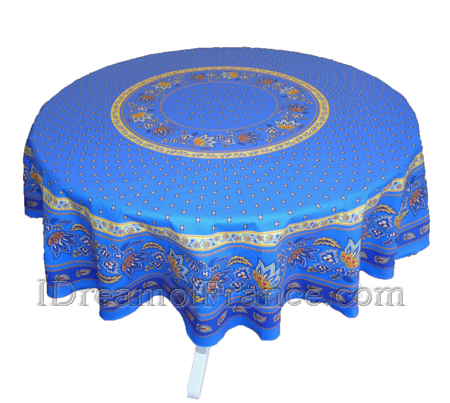 Le Cluny Lisa Blue French Country Tablecloth