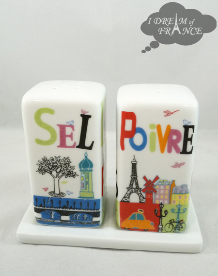 Paris Ceramic Salt and Pepper Shakers Set